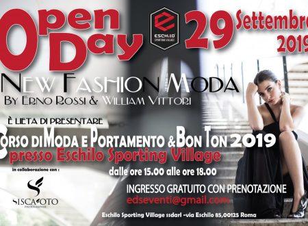 Open Day il 29 Settembre per la Nuova Scuola di Moda , portamento e bon ton : NEW FASHION MODA by Erno e William